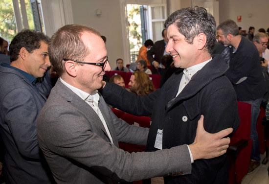 "Manuel H Martin, director del festival felicity a Simón Hernández, director de ""Pizarro""."
