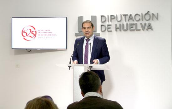 El vicepresidente de la Diputación de Huelva, José Luis Ramos, durante la rueda de prensa.