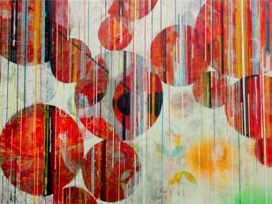Imagen de una obra de José Antonio Faraco sobre papel.