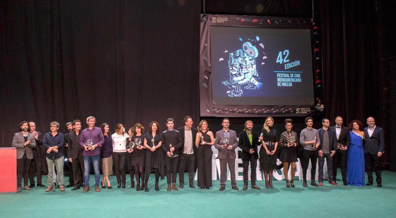 Imagen de los premiados en la Gala de Clausura.