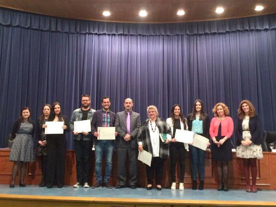Imagen de los alumnos galardonados.