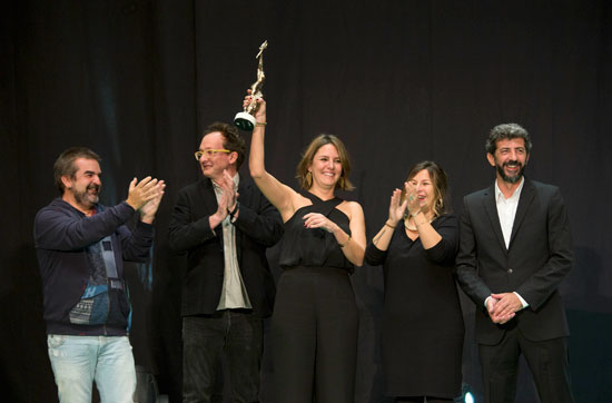 Entrega del Premio Luz a Manuela Ocón.