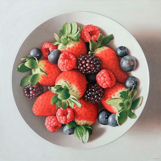 """""""Red fruits"""", una de las obras de Antonio Cazorla."""