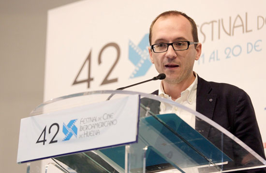 Manuel H. Martín en rueda de prensa.