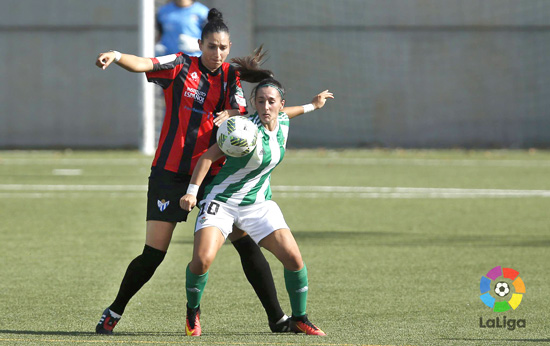 Sandra García en un encuentro esta temporada con el Sporting Club de Huelva.