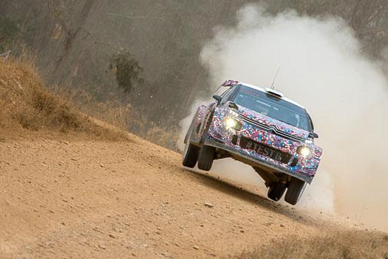 Imagen de una de las pruebas del equipo Citroën Racing en la provincia de Huelva.