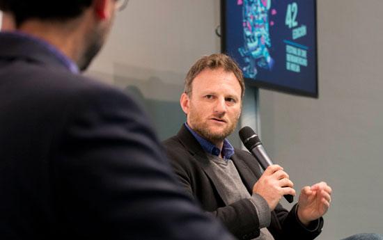 Hernán Guerschuny durante la presentación del film.