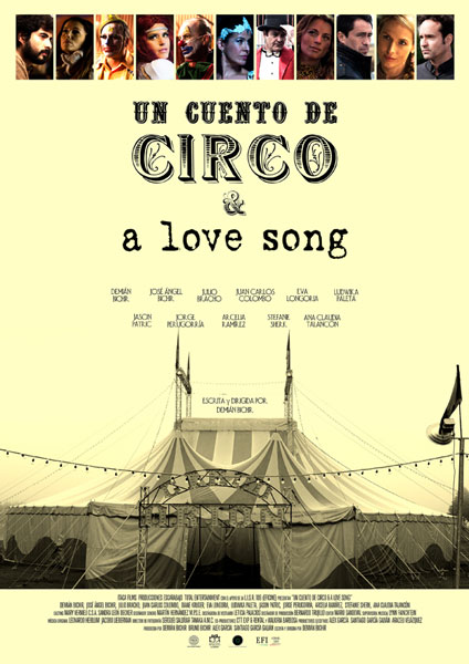 Cartel del film 'Un cuento de circo & a love song'.