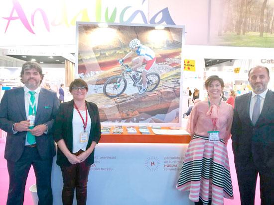 Integrantes del Patronato Provincial de Turismo en la World Travel Market.