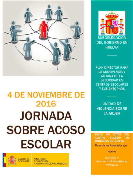 Cartel de la Jornada sobre Acoso Escolar