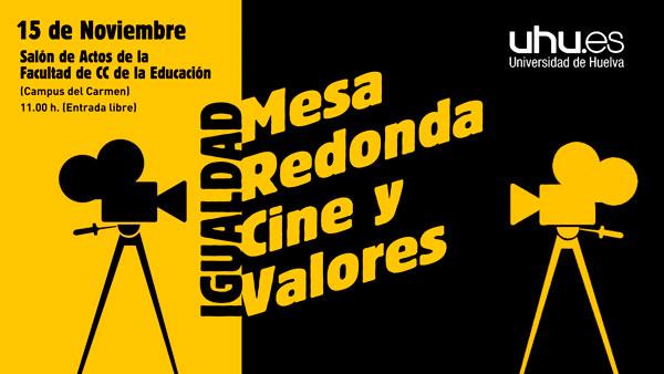 Cartel d la Mesa Redonda sobre Cine y Valores.