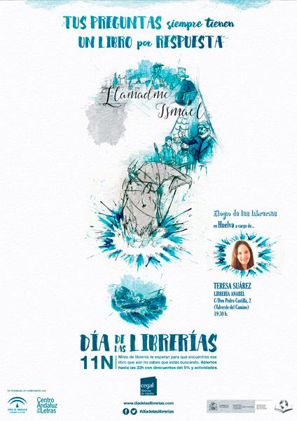 Cartel del Día de las Librerías en Huelva.