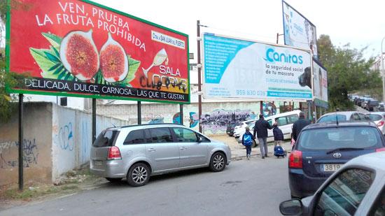 Imagen de la valla publicitaria.