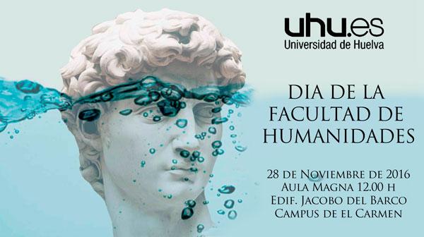 Cartel del Día de la Facultad de Humanidades en la UHU.