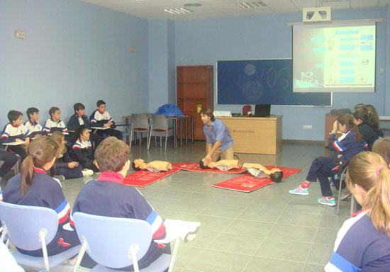 Imagen del taller de primeros auxilios.