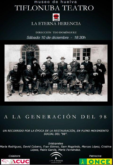 "Cartel de la obra ""La eterna herencia""."
