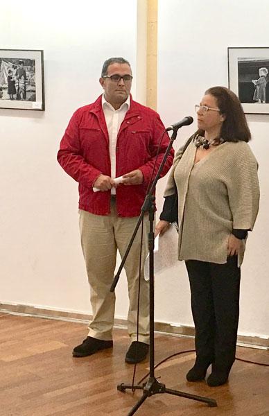 Inauguración de una de las exposiciones.