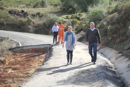 Imagen de la visita a la carretera  que une Las Delgadas y Marigenta.