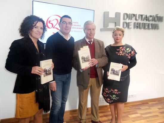María Eugenia Limón, Manuel Domínguez, Joaquín Soteras y Lourdes Garrido durante la presentación de la obra.