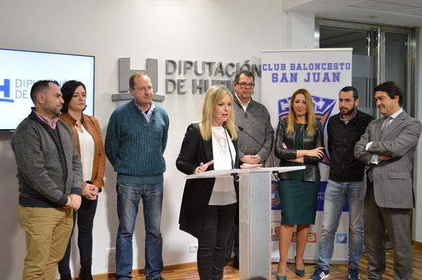 1. Rueda de prensa de la presentación del Proyecto de la Escuela de Baloncesto Solidario de San Juan del Puerto.
