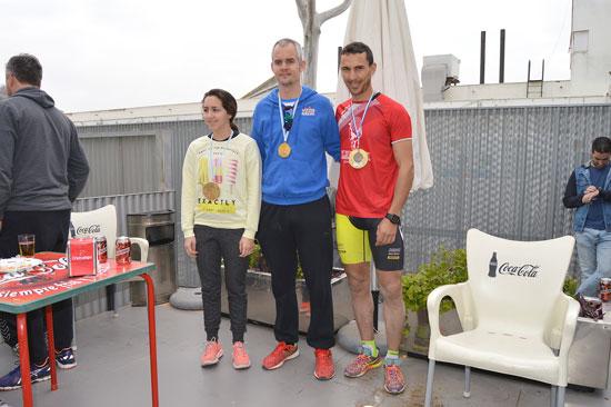 Ganadores del I Triatlón Indoor de San Juan del Puerto