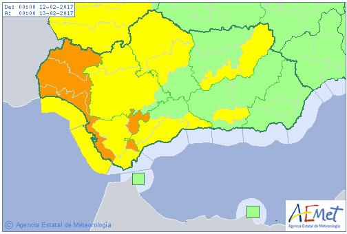 Avisos Meteorológicos: Andalucía.