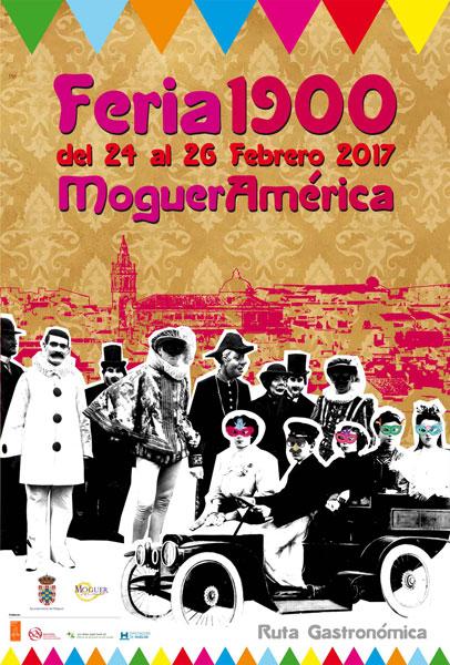 Cartel de la Feria 1900 de Moguer.