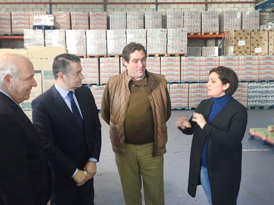 Imagen de la visita al Banco de Alimentos.