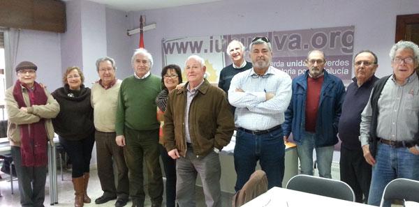 Los mayores de Izquierda Unida durante la rueda de prensa.