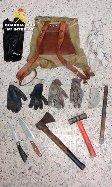 Material incautado por los agentes de la Guardia Civil.