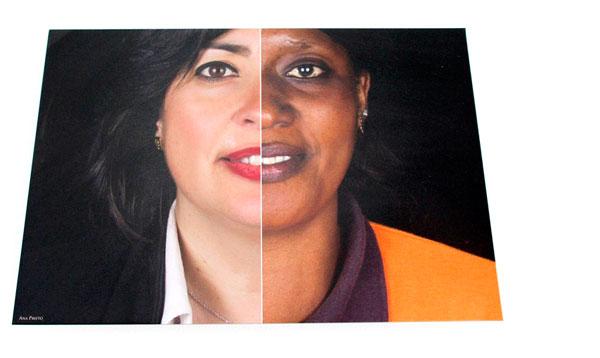 La concejala de Bienestar Social funde su rostro con el de una mujer de origen africano.