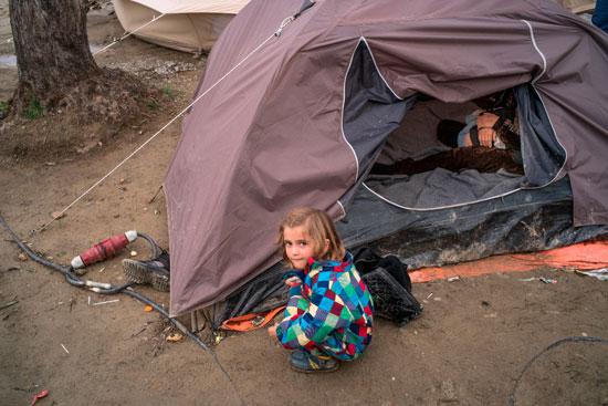 Imagen de una persona refugiada.