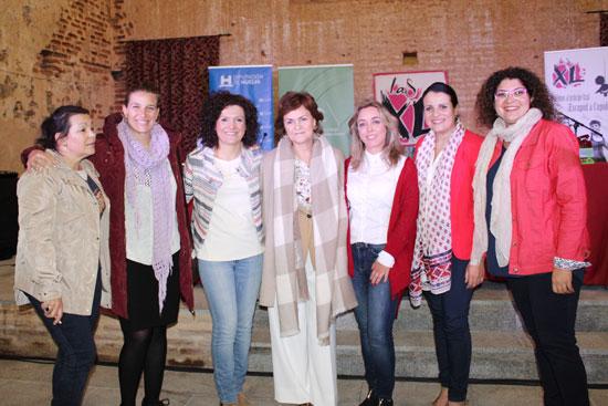 Imagen de las participantes en el acto.