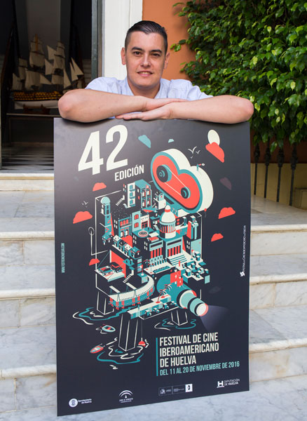 'La máquina del cine', obra del diseñador onubense Israel Vega.