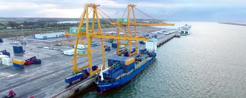 Terminal de contenedores del Puerto de Huelva
