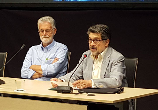 Javier Barrero durante su intervención en el acto.