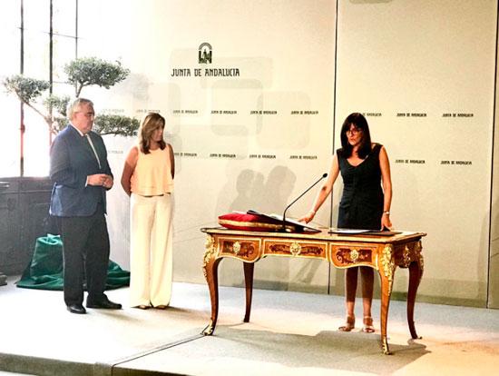 María Antonia Peña durante el acto de toma de posesión.