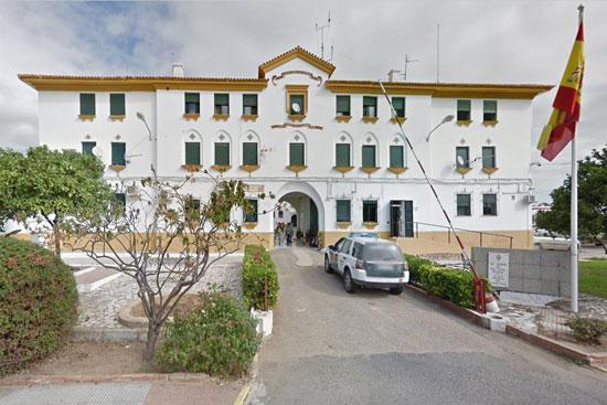 Imagen del casa-cuartel de la Guardia Civil en Ayamonte.