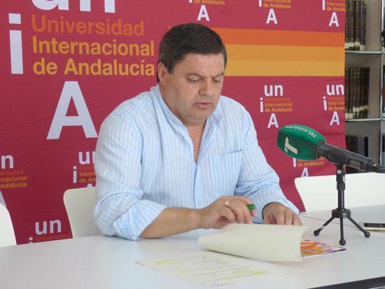 Agustín Galán durante una rueda de prensa.