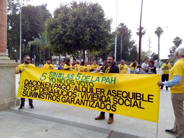 Una acción de PAH Huelva en el segundo trimestre de 2017.