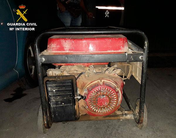 Imagen del motor-generador intervenido.