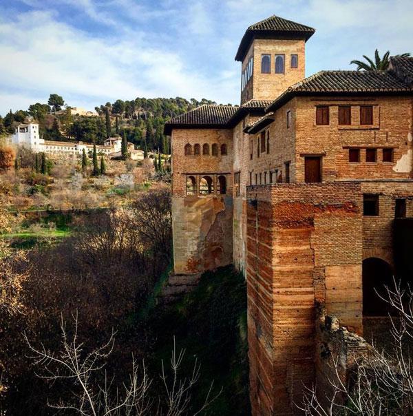 La Alhambra en Granada, un monumento Patrimonio de la Humanidad.