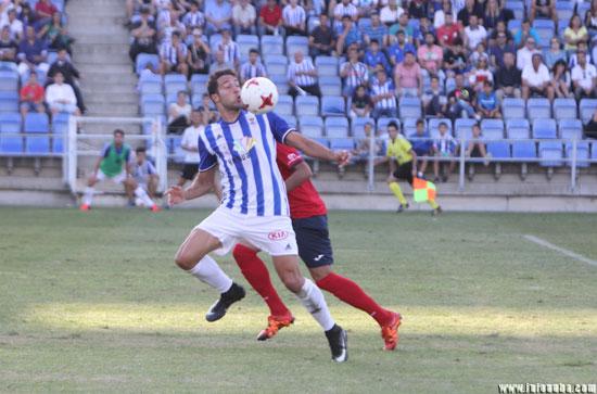 Imagen de Boris Garrós en el último partido de liga en el Nuevo Colombino.
