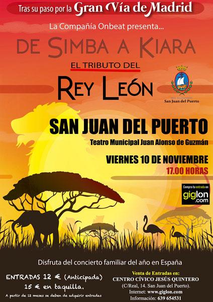 Cartel anunciador del evento que tendrá lugar este viernes en San Juan del Puerto.