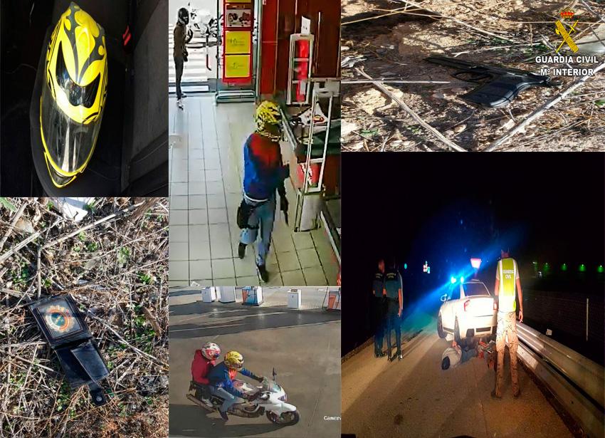 Imagen de la intervención, pruebas y circunstancias de la operación llevada a cabo por la Guardia Civil.