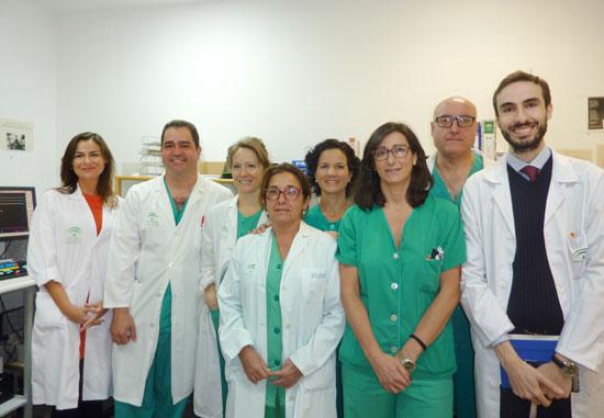 Equipo de la primera angioplastia de hipertensión pulmonar en el Hospital JRJ.