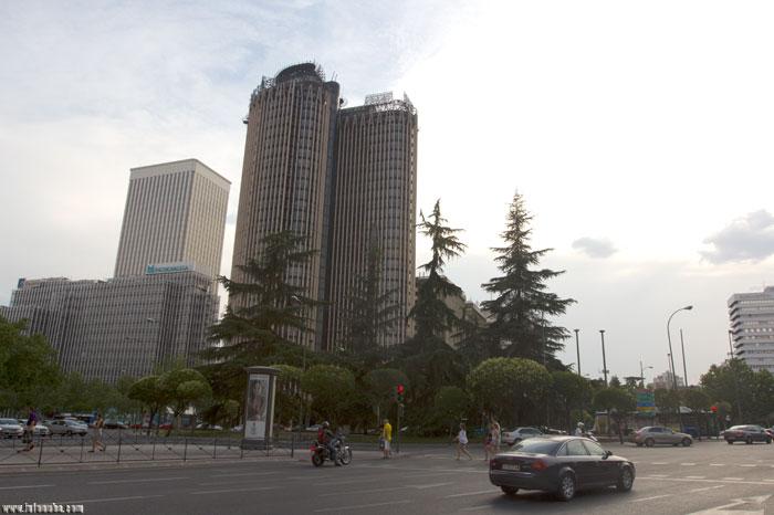 Imagen de la Plaza de Lima en Madrid en el año 2013.