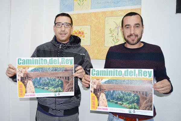 El concejal de Deportes y Juventud Miguel Beltrán, junto al técnico municipal Antonio García.
