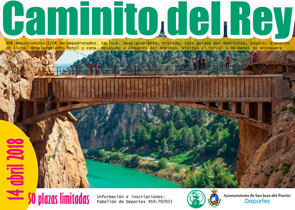 Cartel de la ruta del Caminito del Rey.