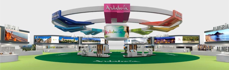 Recreación del stand de Andalucía en FITUR 2018.